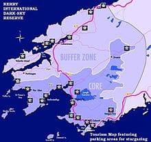 Kerry Darks sky Reserve map