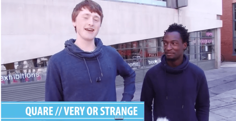 2 lads try to explain the meaning of irish slang