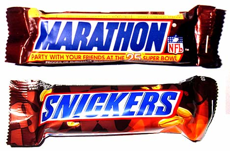 marathon or snickers?