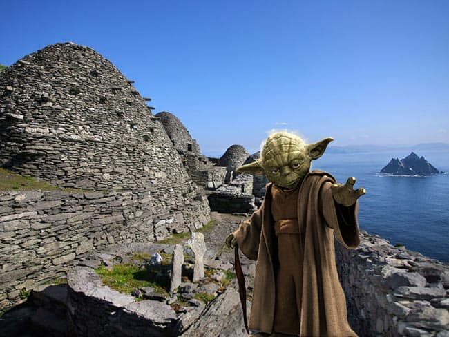 Star Wars films on Skellig Michael