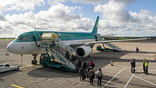 an airplane at cork airport