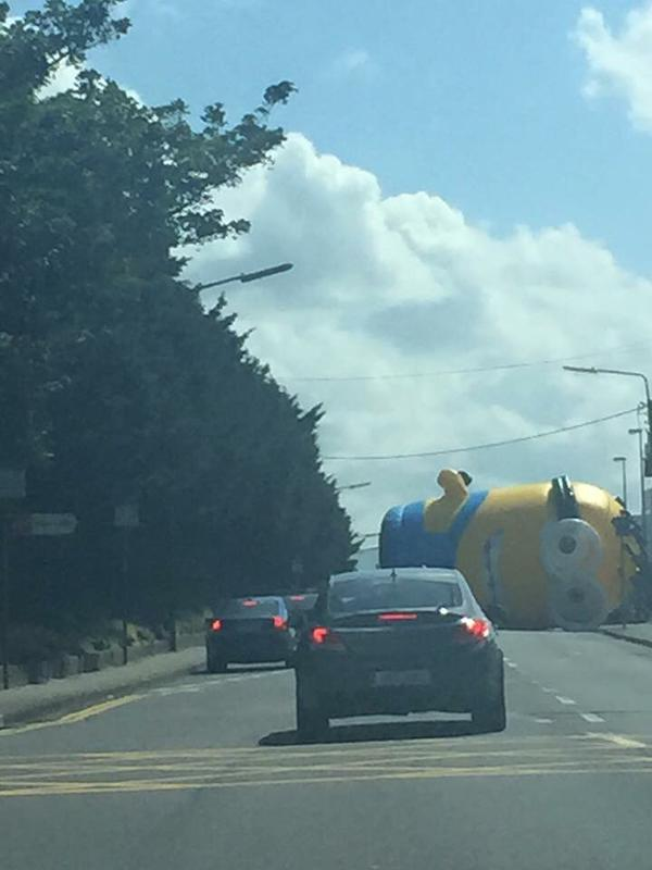 inflatable minion escapes