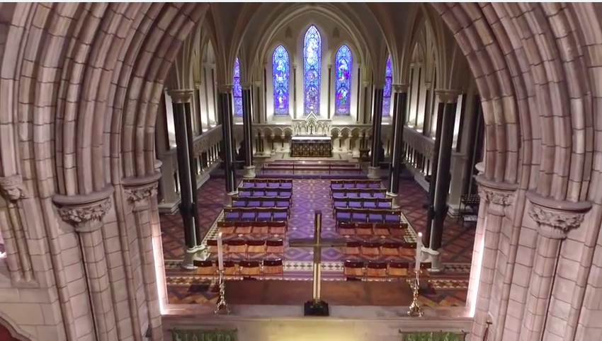 drone view of st. Patricks cathedral dublin