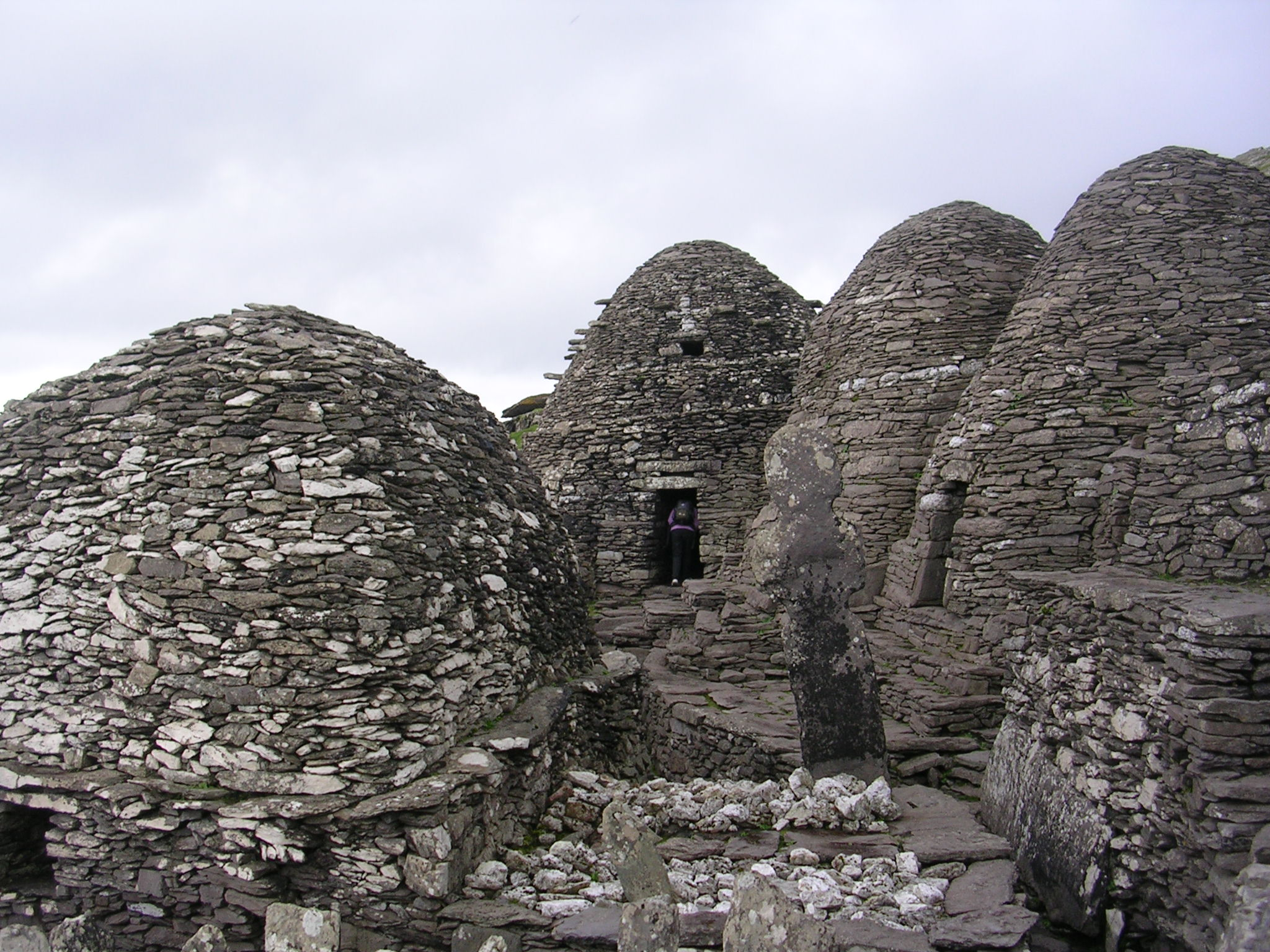 skellig Michael stone beehive huts