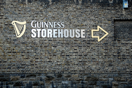 guinness storehouse sign