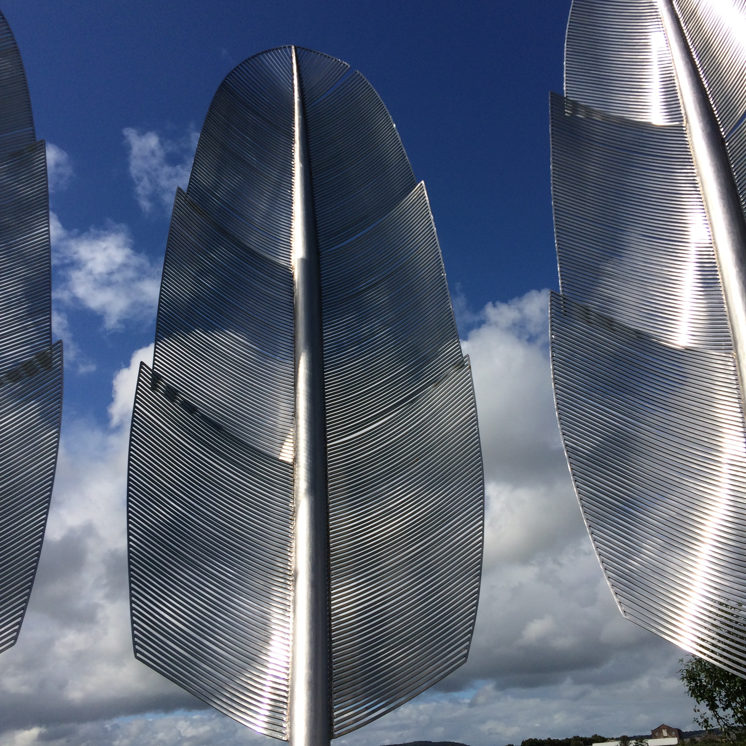 a close up of the choctaw memorial in Midleton county cork