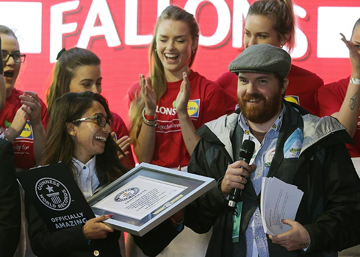 guinness world record being awarded