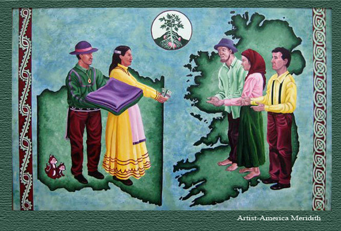 the choctaw help the irish