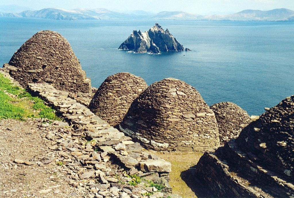 view from skellig Michael to little skellig