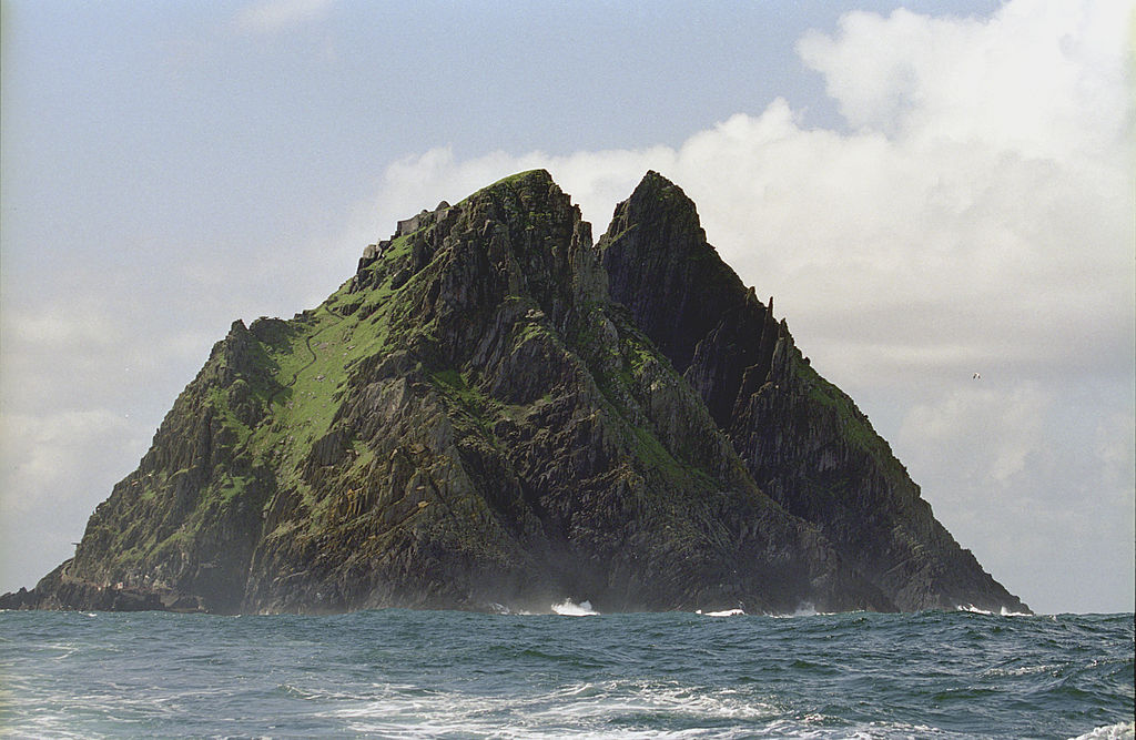 approaching skellig Michael from the sea