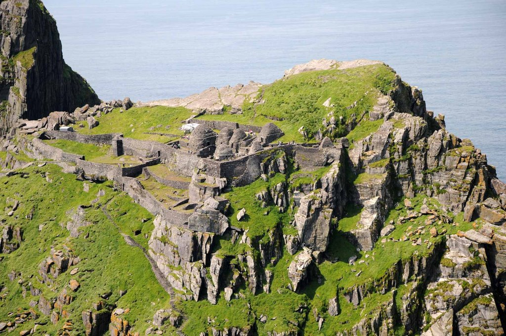 skellig Michael monastic settlement form the air