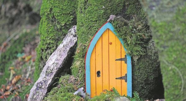 fairy door against tree