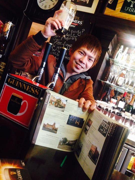 The legendary Yuyu Abe in Slattery's of Dublin