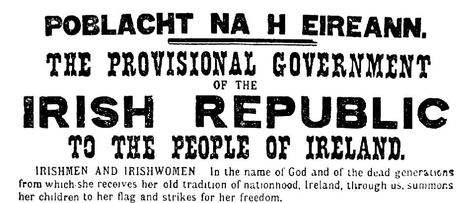 intro to the 1916 proclamation