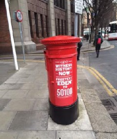 post box painted red